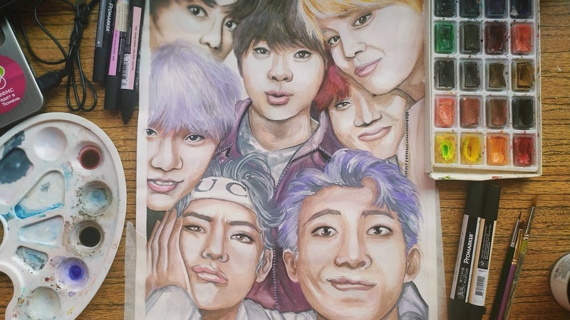 BTS (kpop) - speed drawing