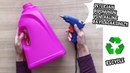 PLASTİK DETERJAN BİDONU İLE HARİKA GERİ DÖNÜŞÜM FİKRİ HOW TO REUSE PLASTIC LAUNDRY BOTTLE
