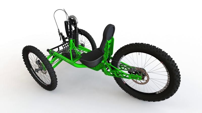 Хэндбайк внедорожник SPORT-ON JEETRIKE off-road handcycle