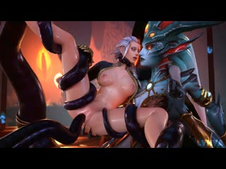 Wow azshara & jaina proudmoore tentacles fucked by lynya rule34 r34 world of warcraft
