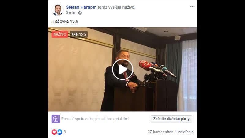 Štefan Harabin - tlačovka | 13.6.2019