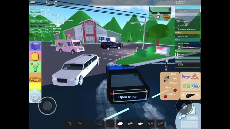 Free Sheriff Car In The Neighborhood Of Robloxia