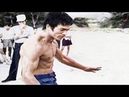 Bruce Lee's fist power in front of the cameras