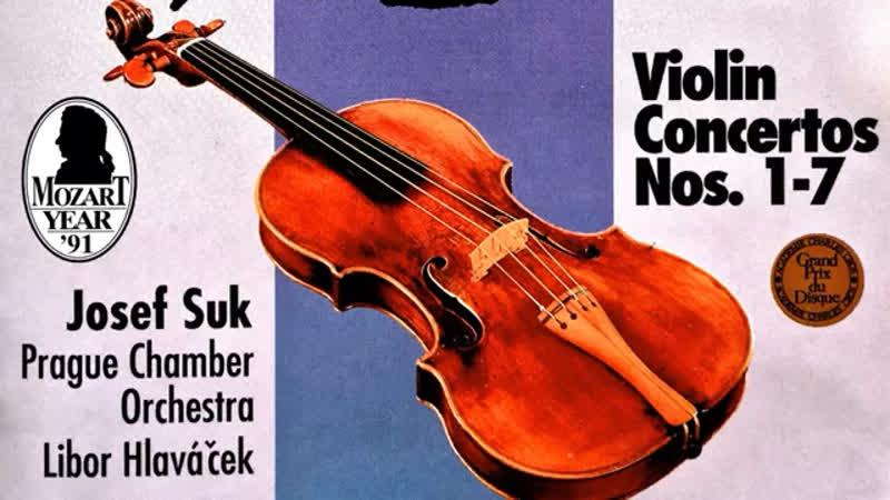Mozart The Violin Concertos n°1 2 3 4 5 6 7 recording of the Century Josef Suk Hlaváček