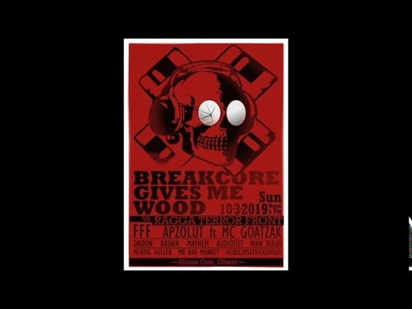 Audiotist live @ Breakcore Gives Me Wood vs Ragga Terror Front 10.03.19