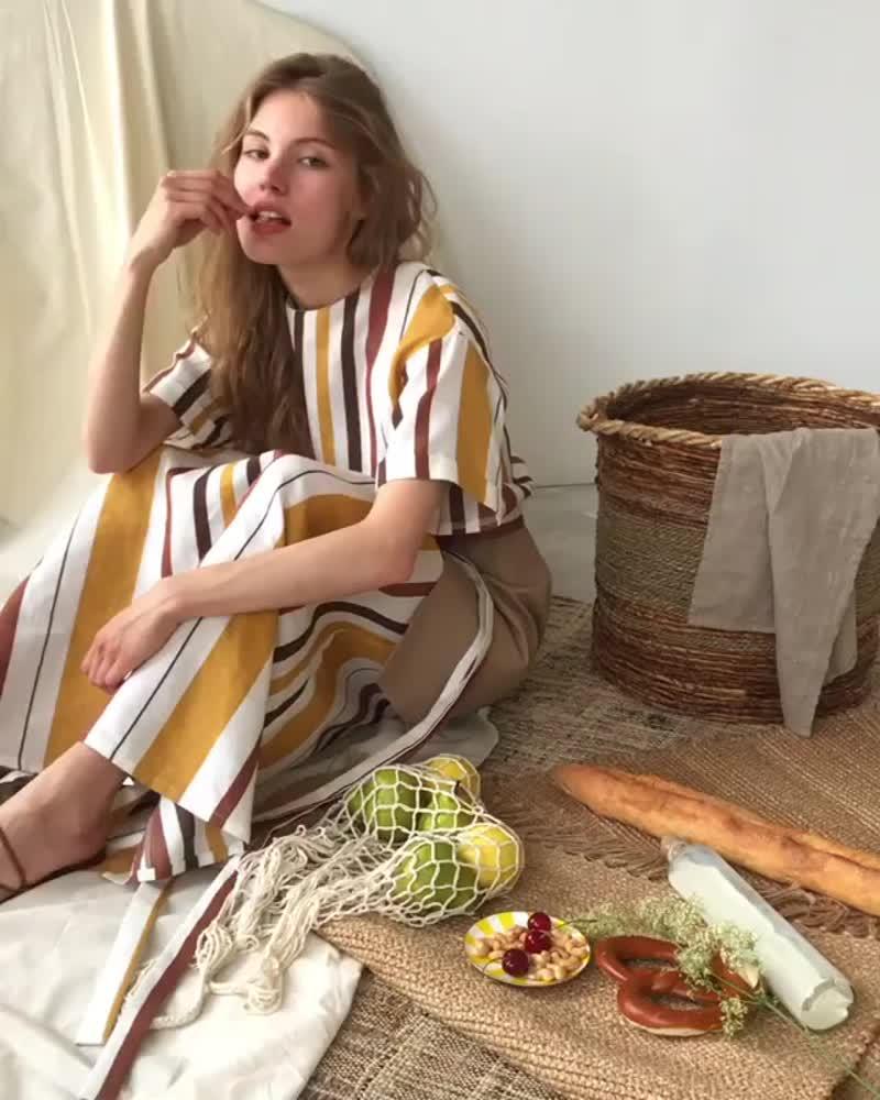 Á LIKE NATURAL•Льняное платье-футболка 5900₽ #DR0419003___Новая летняя коллекция уже в offline-магазинах / на USHATAVA.com