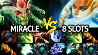 MIRACLE [Medusa] Hard Counter Pick VS Naga 8 Slotted Cancer Game  Dota 2