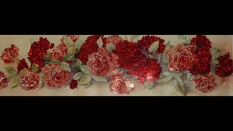Алмазная вышивка «Розы». Часть 1/4. Варианты выкладывания алмазов. Diamond embroidery Roses.