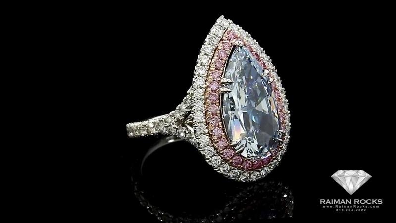 4.47ct Natural Fancy Blue, VVS2 Pear Shape Diamond