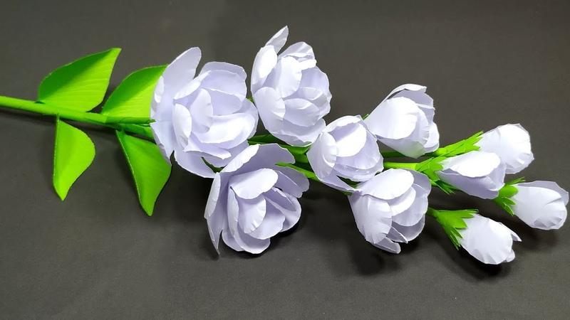 How to Make Very Beautiful Jasmine Stick Flower Making with Paper DIY Abigail Paper Crafts