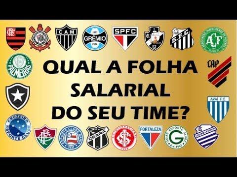 Qual a folha salarial de cada um dos 20 clubes da Série A do Brasileiro