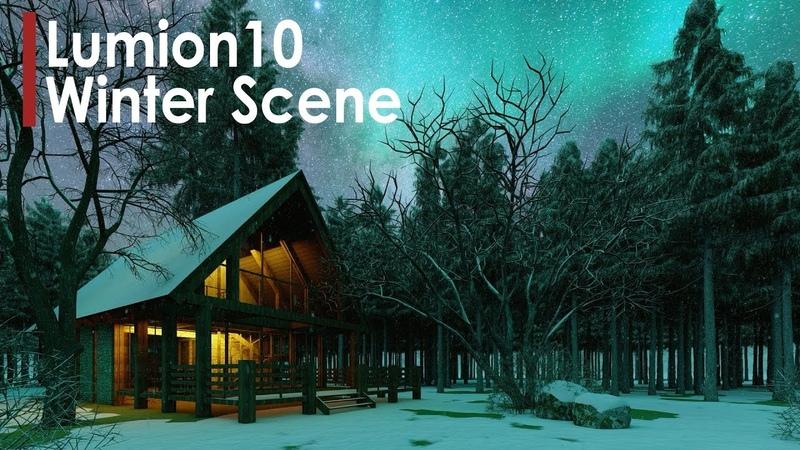 Lumion 10 Winter Scene Workflow | New Features