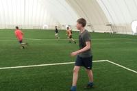 Тренировки в манеже Академии Футбола