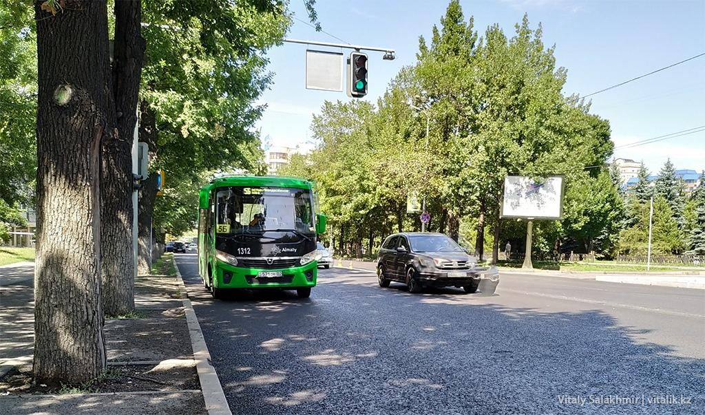 Автобус 5Б, Алматы, проспект Достык 2019