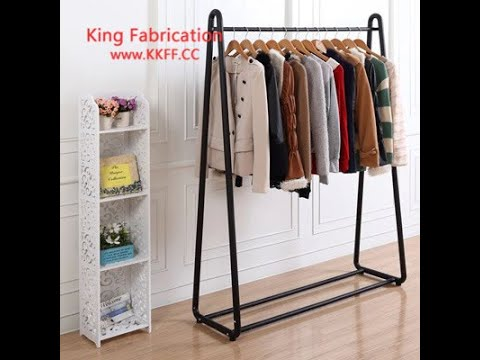 Iron clothing store clothing rack womens clothing store shelf display garment racks