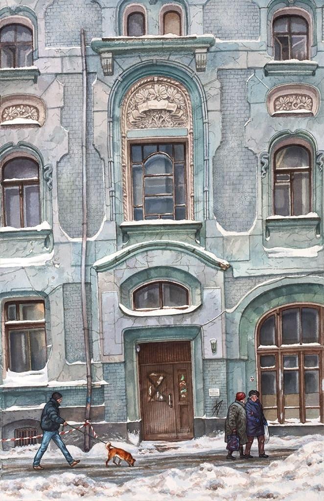Москва в акварелях Алёны Дергилёвой.