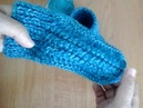 Вязание спицами. Вяжем тапочки. Вязание для начинающих. Свяжем вместе.