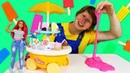 Барби и сломанная Тележка с мороженным - Игры для детей в куклы. Чиним игрушки!