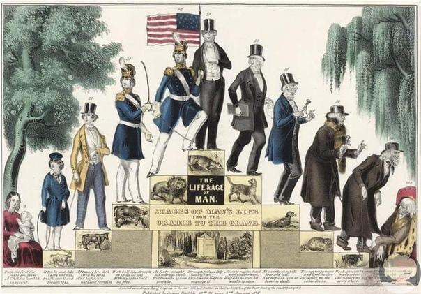 Жизнь женщины и мужчины от колыбели до смерти. 1848 год, James Baillie
