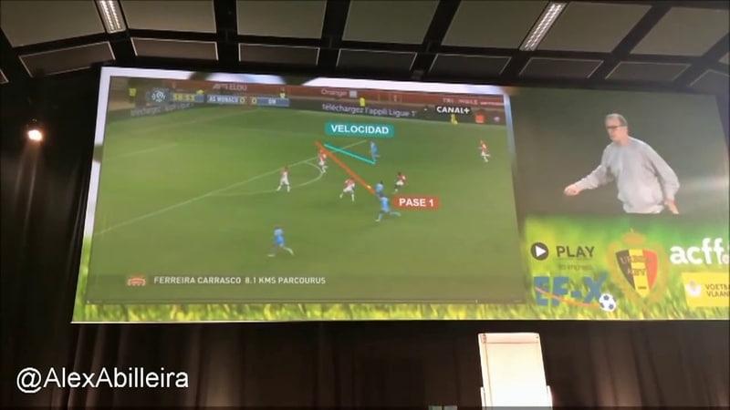 Conferencia Marcelo Bielsa Clasificación y explicación de los 5 tipos de desmarque en el fútbol