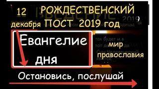 12 декабря Евангелие, Апостол и святой дня  Молитва ОПТИНСКИХ СТАРЦЕВ