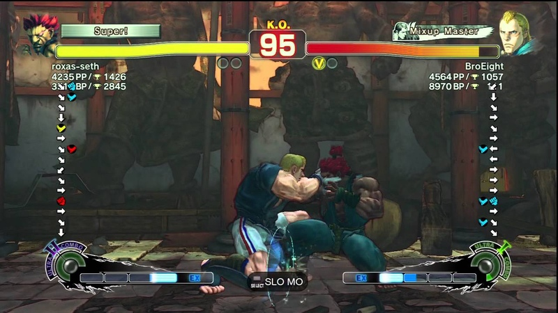 SSF4 AE Ver 2012 Roxas Akuma vs BroEight Abel PSN Ranked Match