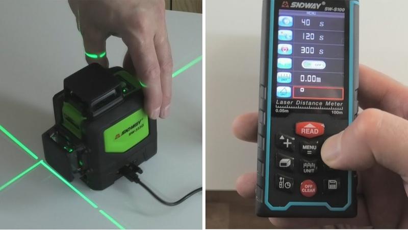 Обзор недорогого лазерного уровня и дальномера из Китая Sndway
