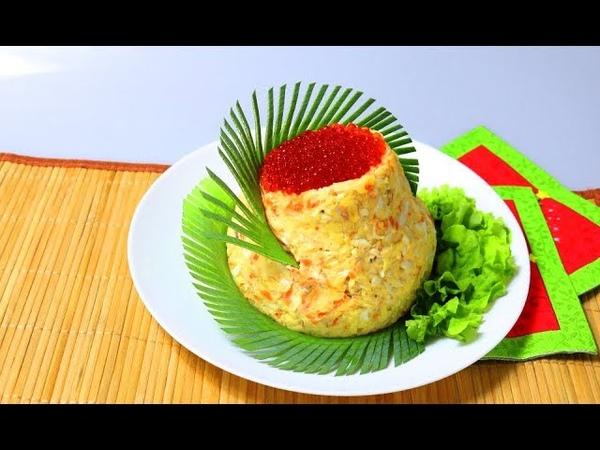 Салат с тунцом. Оригинальная подача блюда