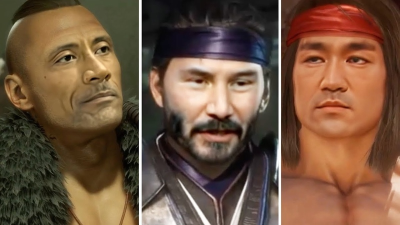 MK11 - Celebrities Skins (Keanu Reeves, The Rock, Bruce Lee, Bruce Campbell, Vandamme) [DeepFake]