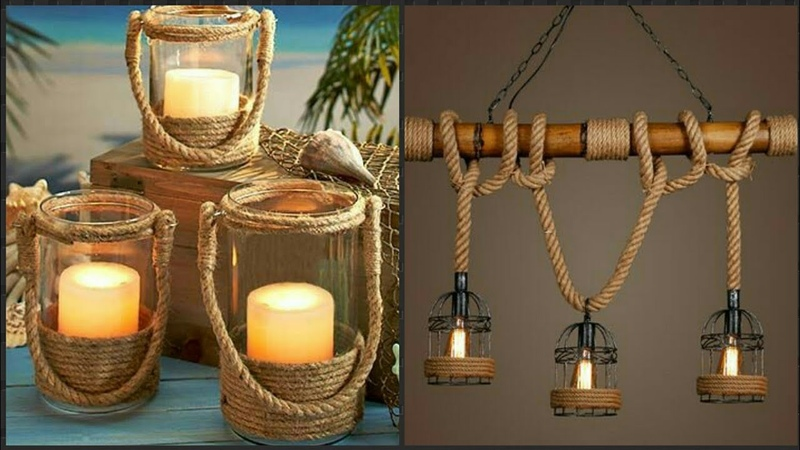 Beautiful jute Rustic Rope Candle Decoration Idea's