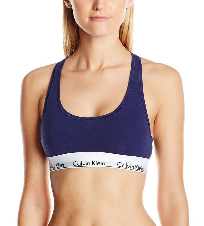 Женский топик Calvin Klein синий без чашечек B4