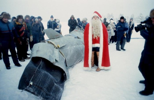 Йоулупукки и советская крылатая ракета, Финляндия, 1984 год.