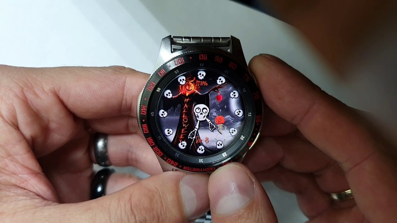 Halloween Animated WW40 watchface for Samsung Gear Samsung Galaxy watch