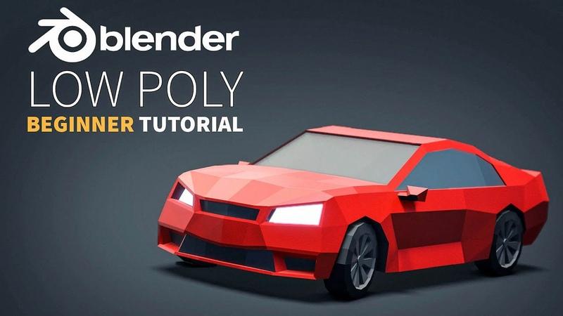 Low Poly Vehicles   Easy Beginner   Blender 2.8 Tutorial
