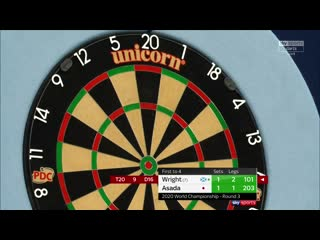 Peter Wright vs Seigo Asada (PDC World Darts Championship 2020 / Round 3)