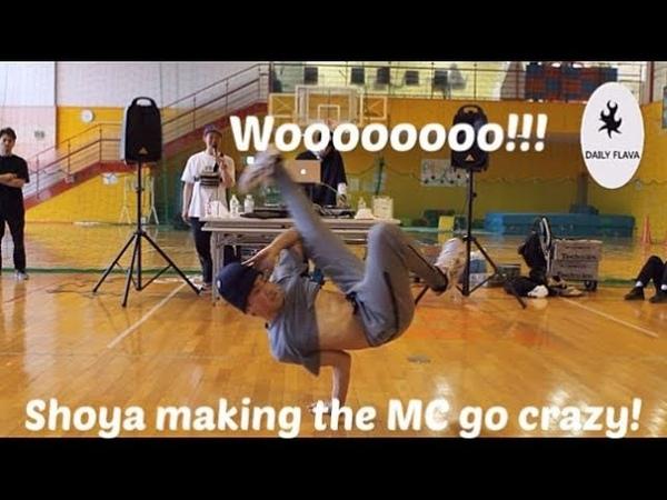 Bboy Shoya driving the MC crazy at Dare 2 Differ 2019. Daily Flava Award 2