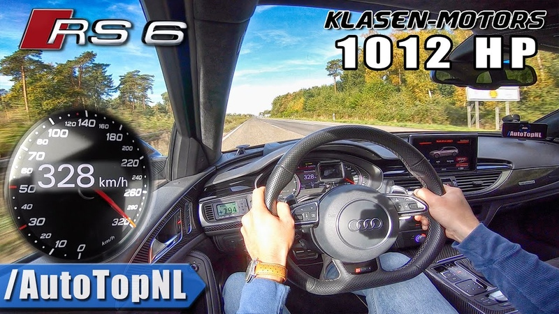1012HP AUDI RS6 on AUTOBAHN 328km h NO SPEED LIMIT by AutoTopNL