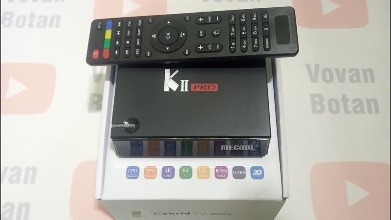 Распаковка Mecool k2 pro Kii pro настоящий комбайн 3 в 1 из Китая спутник эфир Т2 и андроид