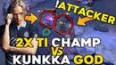 Back to Back TI Champion Riki Solo Mid vs Best Kunkka Attacker Dota 2 EPIC Battle Dota2