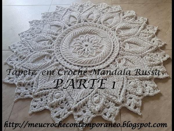 Tapete em Crochê Mandala Russa parte 1