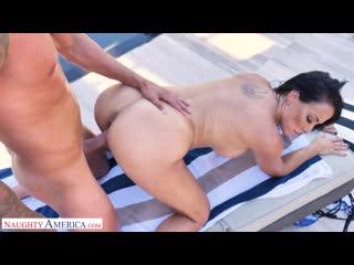 Reagan foxx - sharon fuller reagan foxx fucks by the pool - porno,  ball licking, big tits, deepthroat, mature, porn, порно