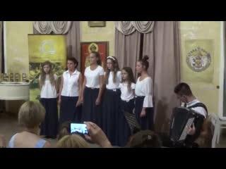 Сербки поют русскую песню Конь