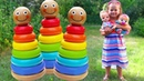 Learn Colors with Stacking Rings with Finger Family Colors Songs for Children