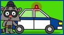 Рисовашка со Степашкой Полицейская машина Как нарисовать полицейскую машину
