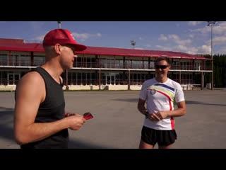 Встреча двух бегунов - врача-кардиолога Прохора Павлова и биатлониста-чемпиона Дмитрия Ярошенко (май, 2020)