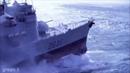 Военные корабли попали в шторм. Сильный шторм в океане. Greenli