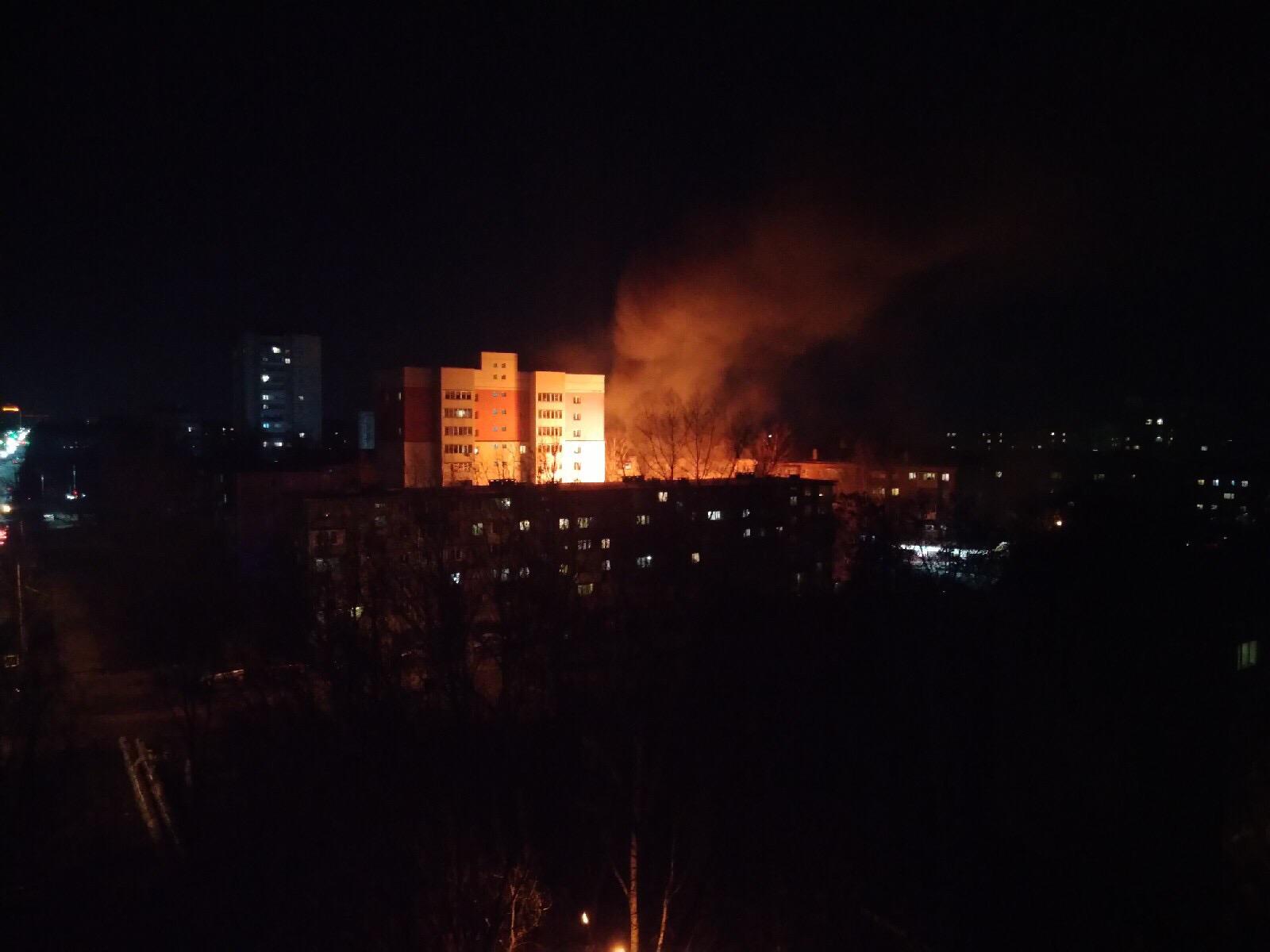 Вчера на ночь глядя на Тракторной случился пожар.