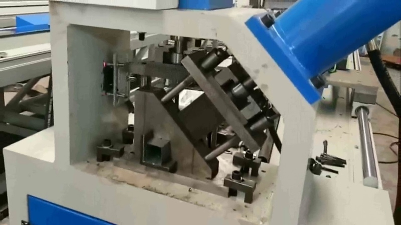 CNC Fully Automatic Hydraulic Punching Cutting Machine For Square Tube