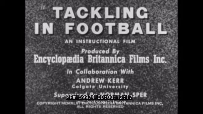 LEATHER HELMET ERA TACKLING IN FOOTBALL INSTRUCTIONAL 1940s COLGATE U. FOOTBALL TEAM 59974
