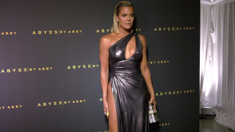 Khloe Kardashian Abyss by Abby's Goddess Within Collection Launch Red Carpet in 4K
